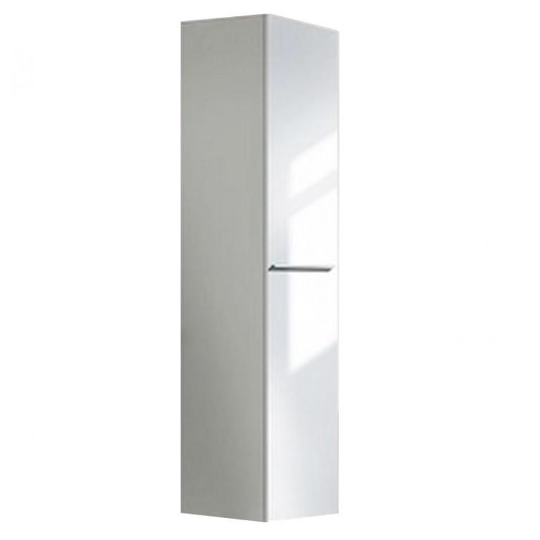 X LARGE шкаф высокий,  500*358 левый, 1 деревянная дверца, 5 стеклянных полок, цвет белый глянцевый