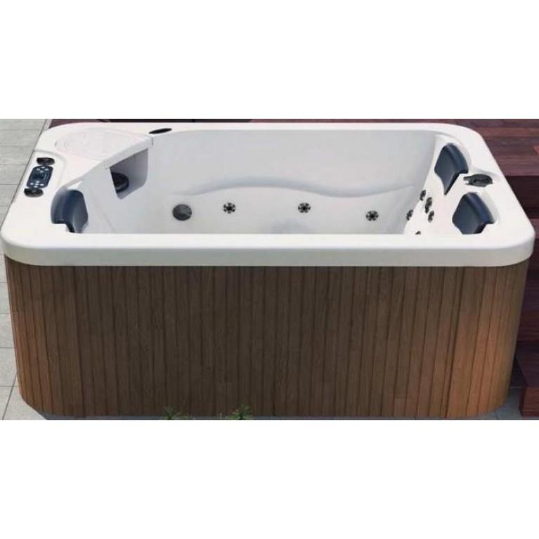 """MARINA SPA бассейн 188*133см, белый, с пластиковым корпусом """"пoд красное дерево"""""""