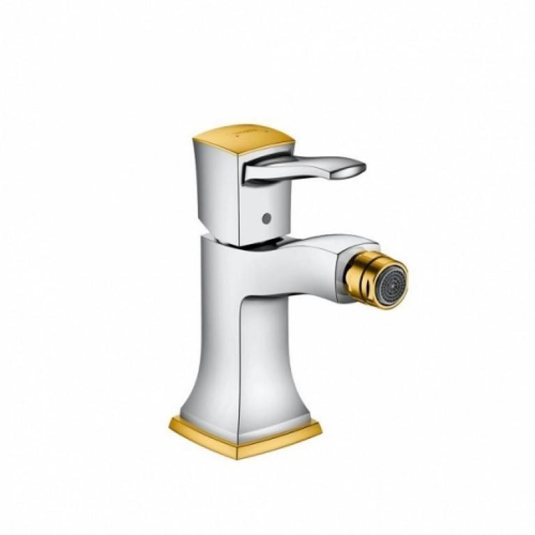 Metropol Classic Смеситель для биде однорычажный, со сливным гарнитуром, хром/под золото