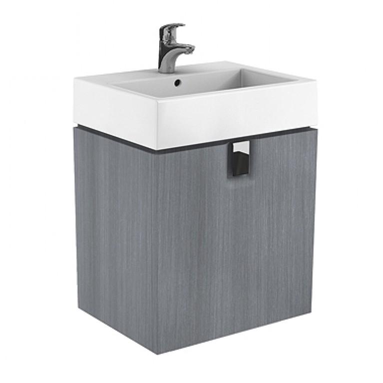 TWINS шкафчик под умывальник 60 см с дверцей, серебряный графит