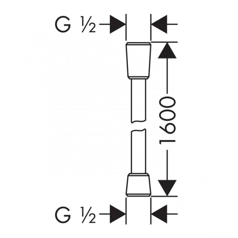 Comfortflex  Шланг 1,60 м ½', хром 28168000