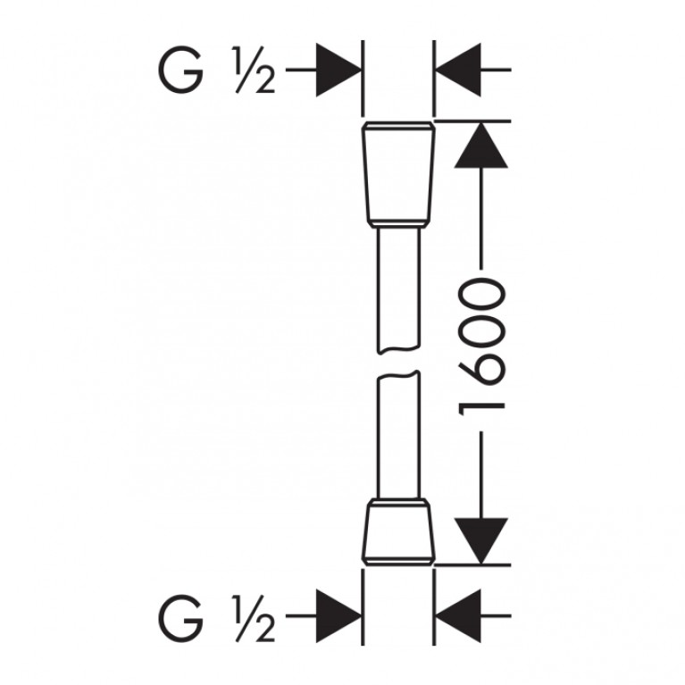 Comfortflex  Шланг 1,60 м ½', хром 28168000, фото 2