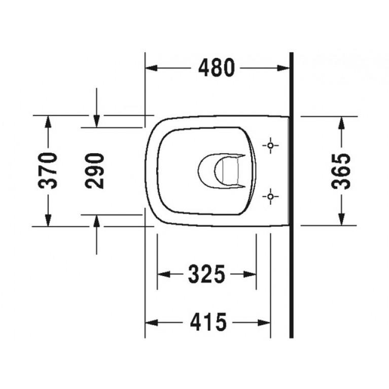 DURASTYLE комплект: унитаз 37*48см, подвесной, с верт. смывом, Rimless, сиденье съемное, с автомат. закрыванием 45710900A1, фото 2
