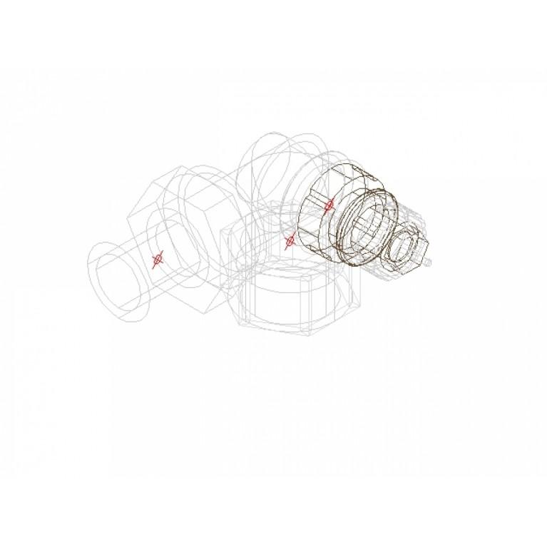 Danfoss Клапан RA-N 15 термостатический, угловой-правый вх. 1/2 013G0233, фото 4