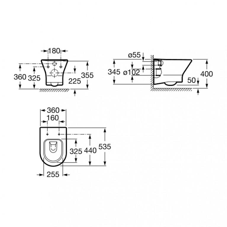 NEXO Rimless подвесной унитаз с сиденьем slow-closing (в упак.) A34H64L000, фото 2