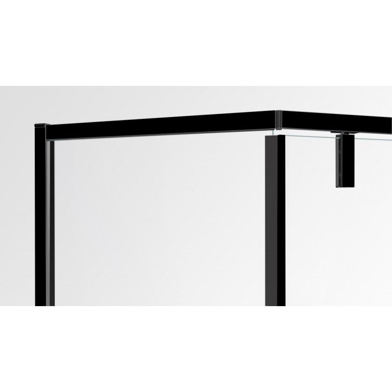 A LÁNY Душевая кабина пятиугольная, реверсивная 1000*1000*2085(на поддоне 135 мм) дверь распашная, стекло прозрачное  6 мм, профиль черный 599-553 Black, фото 4