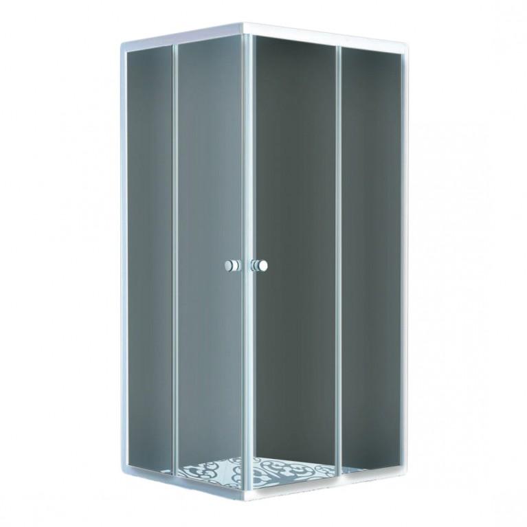 "AURORA  душ кабина квадратная, стекло (4мм) ""FABRIC"" 900*900*1800 (без поддона)"