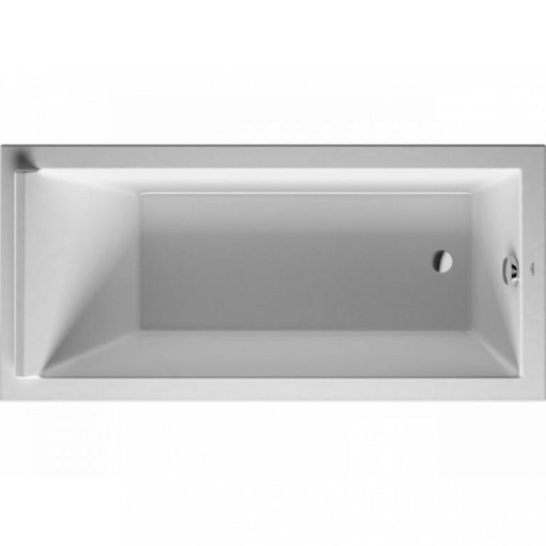 STARCK ванна 170*80*46см, прямоугольная, встраиваемая версия или версия с панелями, с одним наклоном для спины