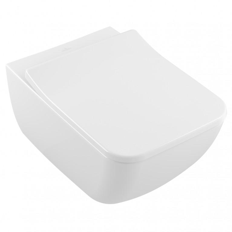 LEGATO Комплект: унитаз подвесной с сиденьем Slim с ф-ями QuickRelease и Soft-Closing, цвет белый альпин