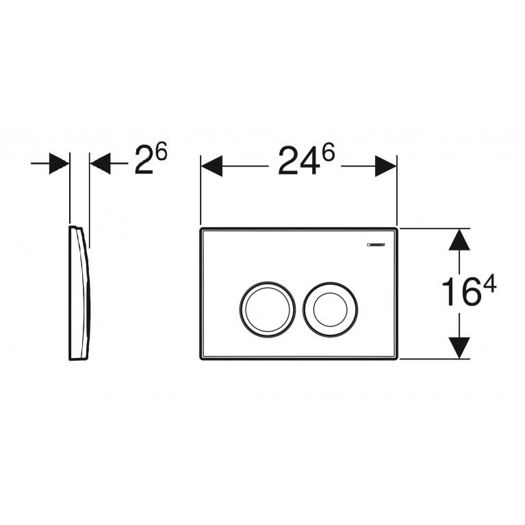 Delta 21 Смывная клавиша, пластик, белый 115.125.11.1