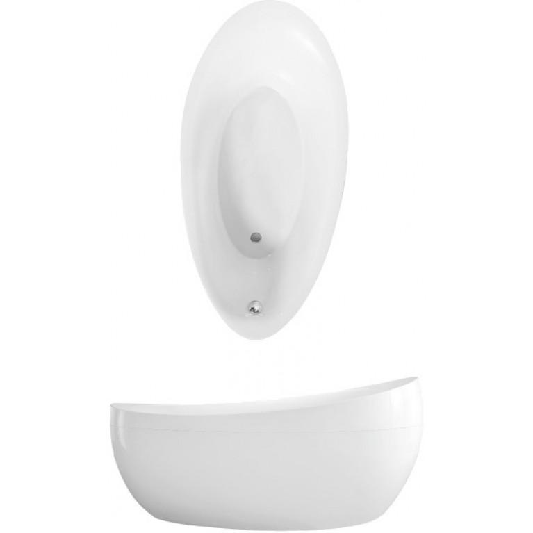 AVEO ванна 190*95см отдельностоящая, панель-рама, слив-перелив хром, цвет Star White