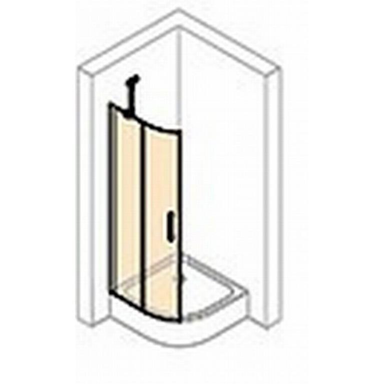 CLASSICS2 Дверь распашная, двустворчатая, с неподвижным сегментом 90*190см (серебро с ярким блеском прозрачное) C24002069321, фото 2