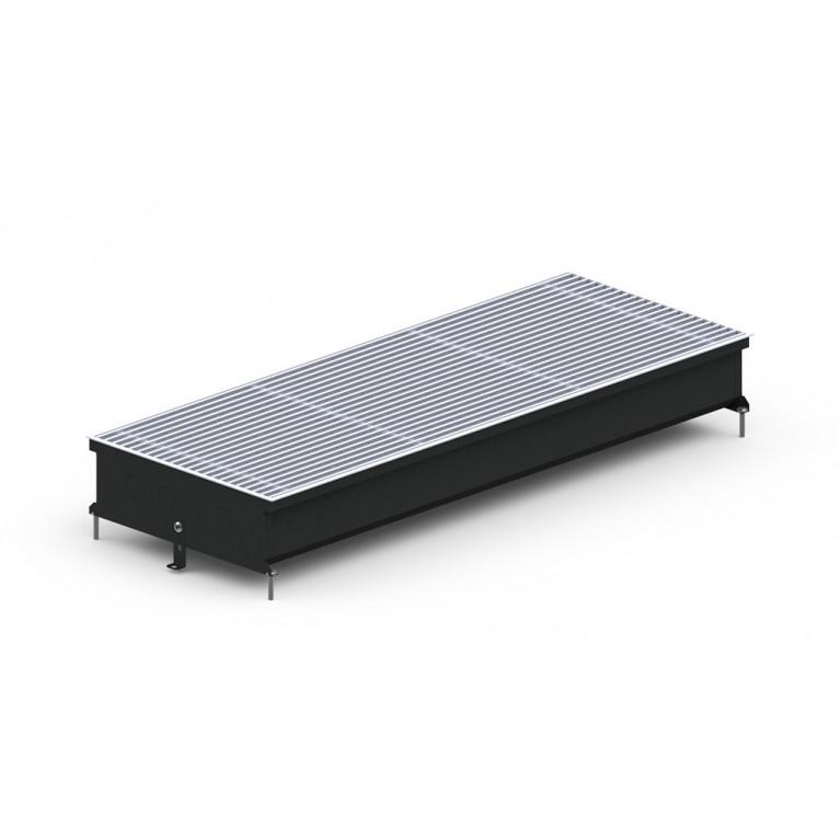 Внутрипольный конвектор естественной конвекции S2 Inox/Black/Alum 120 - 380 мм