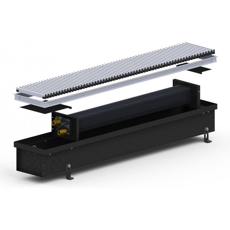 Внутрипольный конвектор естественной конвекции 4S Black 110 - 180 мм
