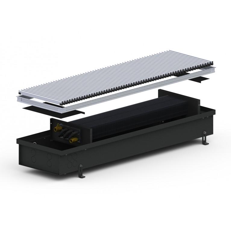 Внутрипольный конвектор естественной конвекции 4S2 Black 110 - 250 мм