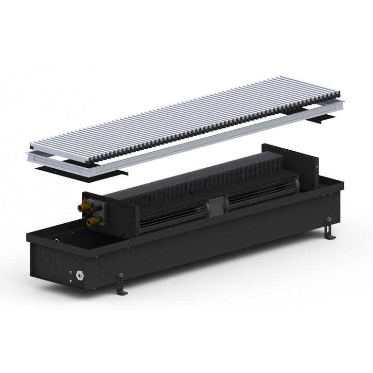 Внутрипольный конвектор принудительной конвекции 4SV Black 110 - 200 мм