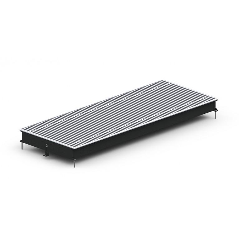 Внутрипольный конвектор естественной конвекции М2 Inox/Black 65 - 380 мм