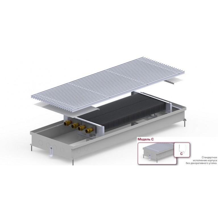 Внутрипольный конвектор С2 Inоx/Blаск/Аluм 90 - 380 мм