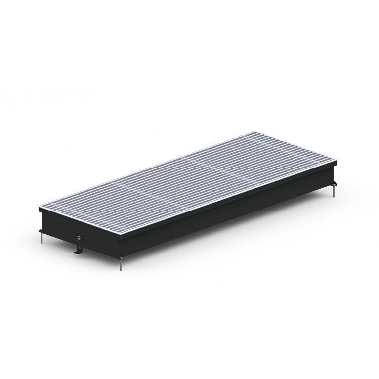 Внутрипольный конвектор естественной конвекции S2 Inox/Black/Alum 90 - 380 мм