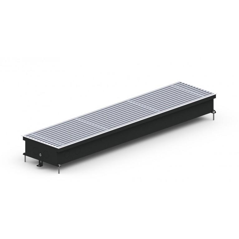 Внутрипольный конвектор естественной конвекции S Inox/Black/Alum 90 - 230 мм
