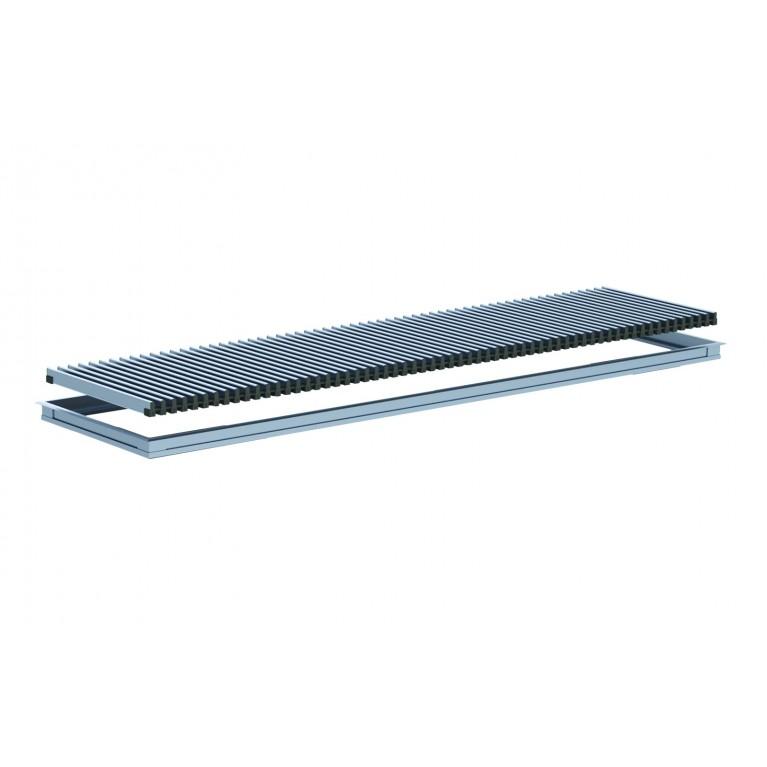 Комплект S рамка + решетка HI-TECH ширина 200 мм Carrera для внутрипольных конвекторов 4SV komplekts_hitech_200