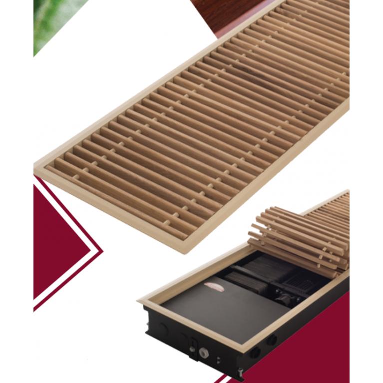 Комплект S рамка + решетка дерево WR ширина 400 мм Carrera для внутрипольных конвекторов SV2 120 komplekts_derevo_400