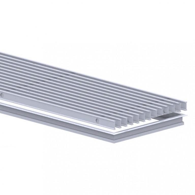 Комплект S рамка + решетка Алюминий ширина 380 мм Carrera для внутрипольных конвекторов S2/SV2 komplekts_alum_380