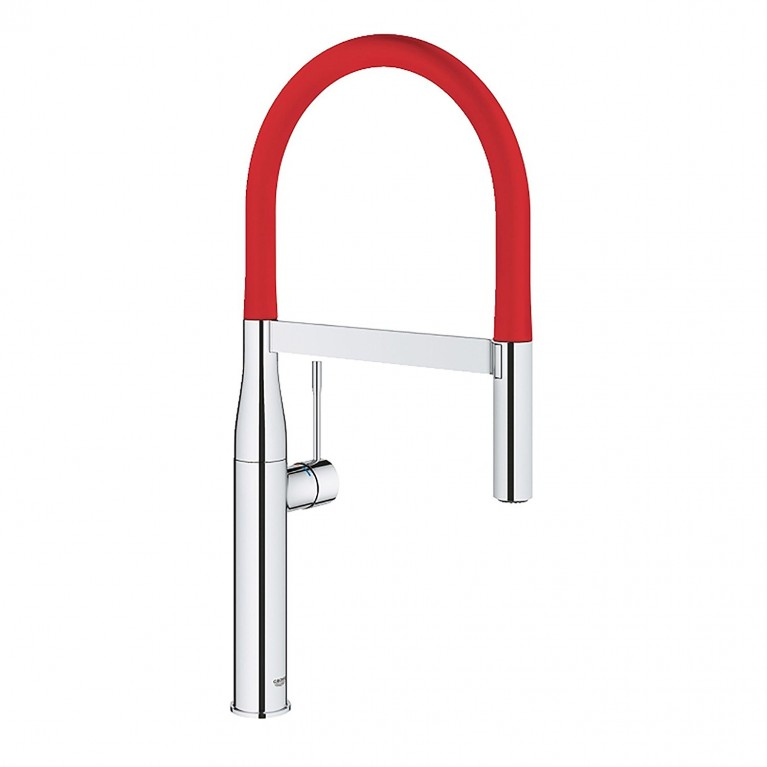 GROHFlexx Шланг гибкий с пружиной для смесителя на мойку, цвет хром/красный 30321DG0, фото 2