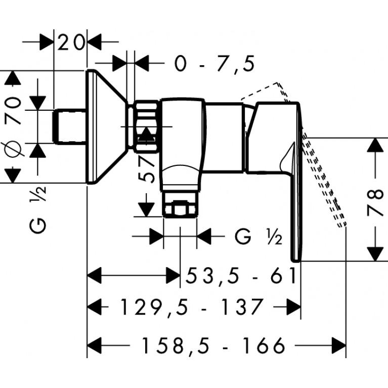 Talis E2 Смеситель для душа, однорычажный 31662000, фото 2