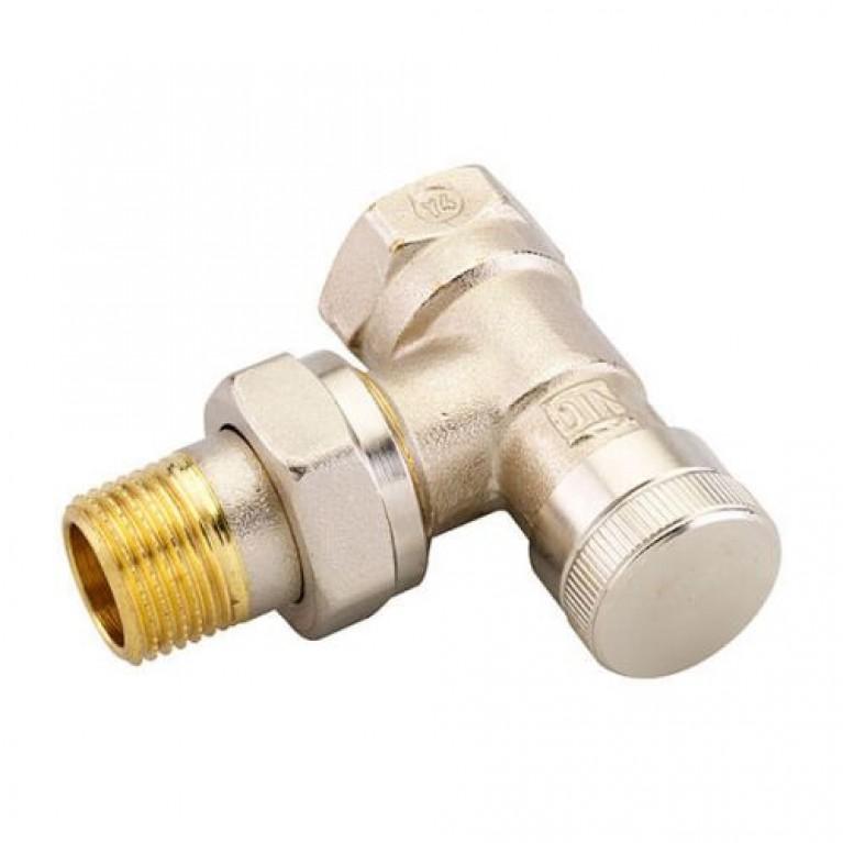 Запорный клапан Danfoss RLV 15 для однотрубной системы угловой