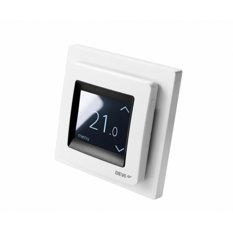 Терморегулятор DEVIreg Touch сенсорный белый 140F1064, фото 2