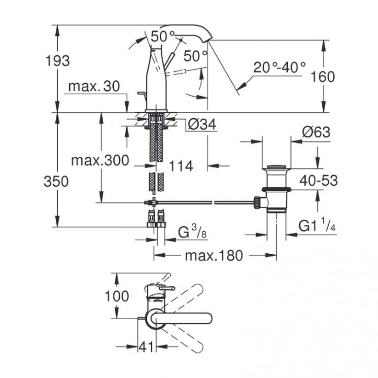 Essence New Смеситель для раковины, однорычажный 23462DC1, фото 4