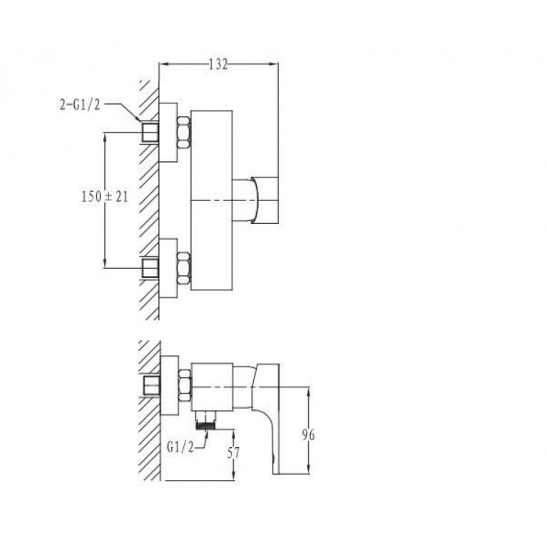 MILOVICE смеситель для душа, хром, 40 мм 15300, фото 2