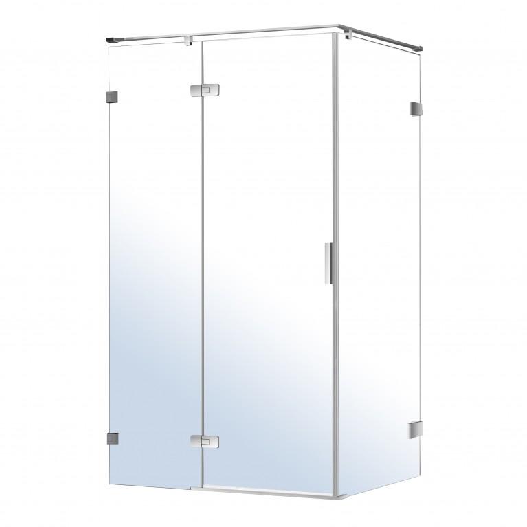 NEMO душевая кабина прямоугольная 120*80*195см, левая, распашная, прозрачное стекло 8мм, зеркальный хром, фото 1