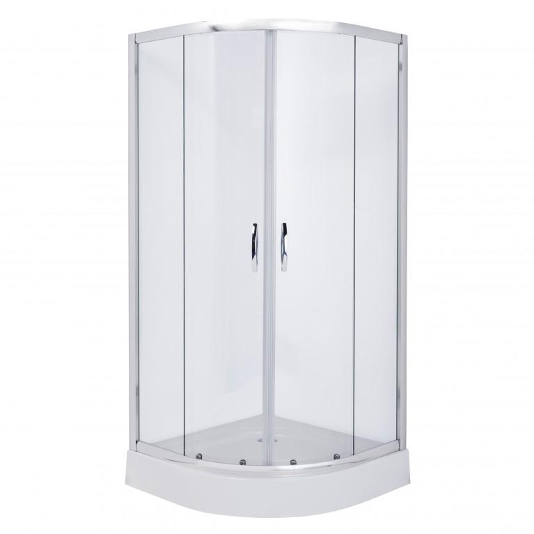 FIESTA душевая кабина 90*90*185 см (стекла+двери), хром, прозрачное, фото 1