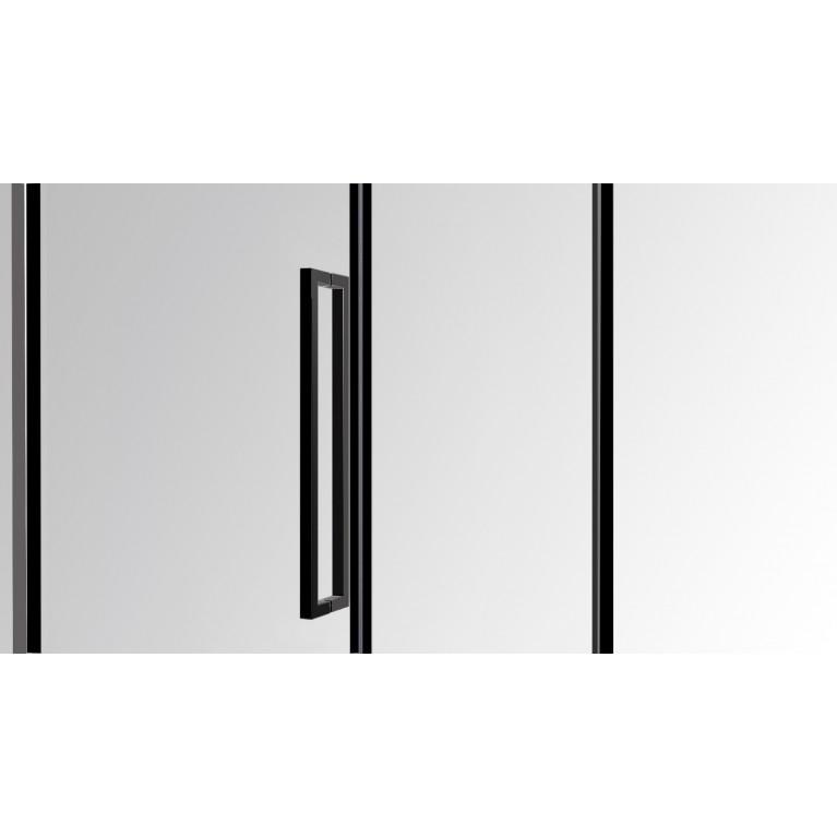A LÁNY Душевая кабина пятиугольная, реверсивная 900*900*2085(на поддоне 135 мм) дверь распашная, стекло прозрачное  6 мм, профиль черный 599-552 Black, фото 2