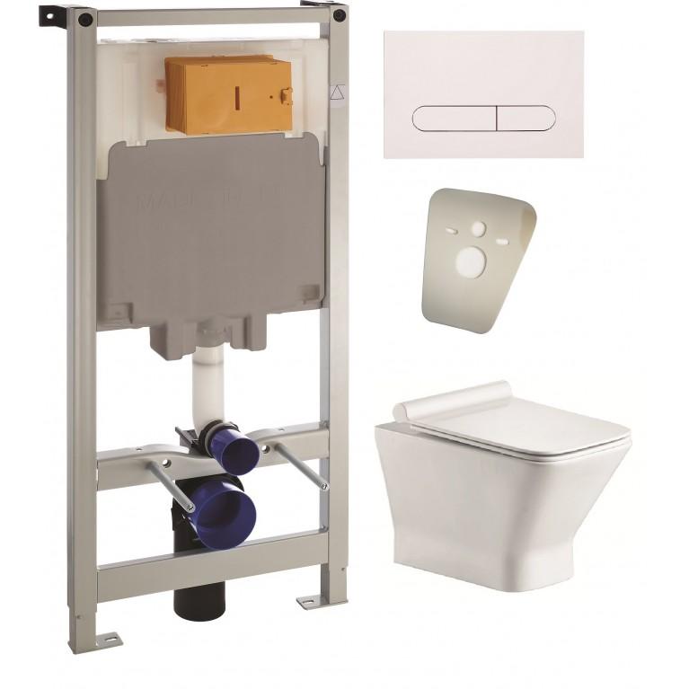 Комплект LЕОN Rimless унитаз подвесной, сиденье Slim slоw-сlosing, комплект инсталляции 4в1