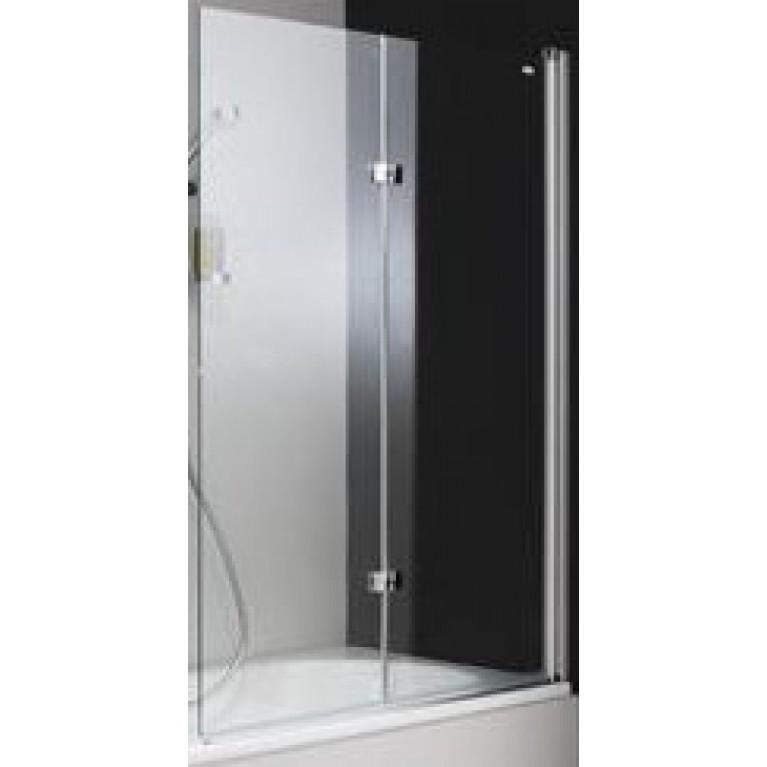 DESIGN PURE шторка для ванны, 100*150 см, профиль хром., стекло прозрачное с Anti-Plaque, крепление справа