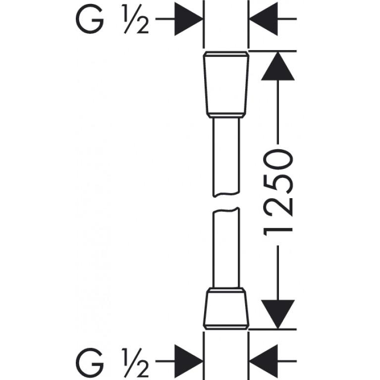 Isiflex``B Шланг душевой 1,25 м 28272000