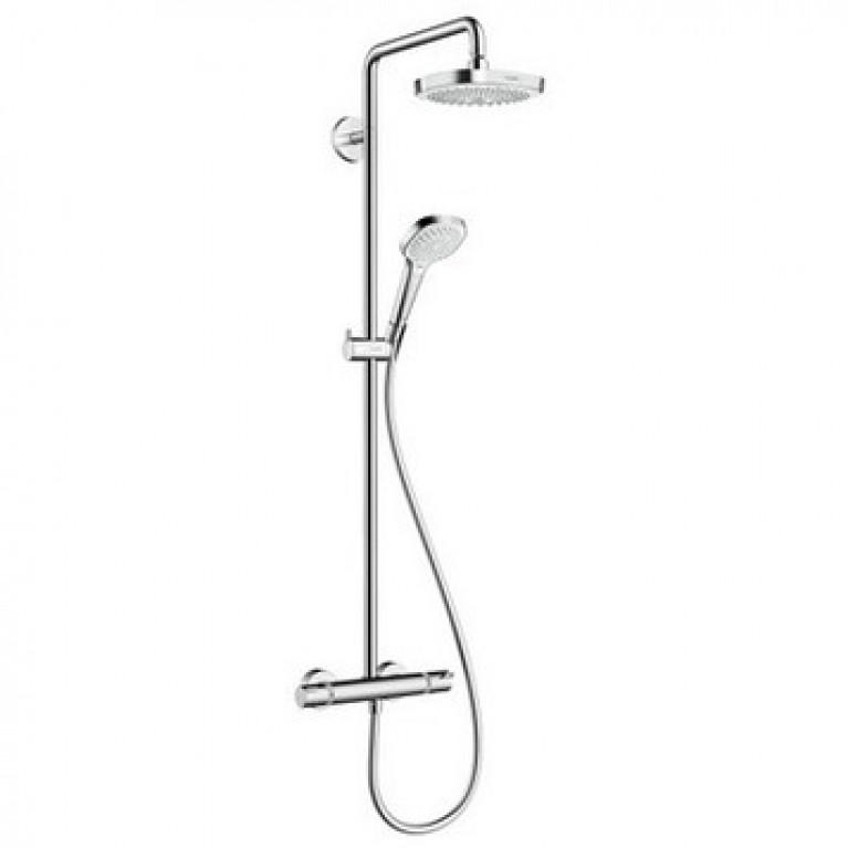 Croma Select E 180 2jet Showerpipe Душевая система поворотная с термостатом, фото 1