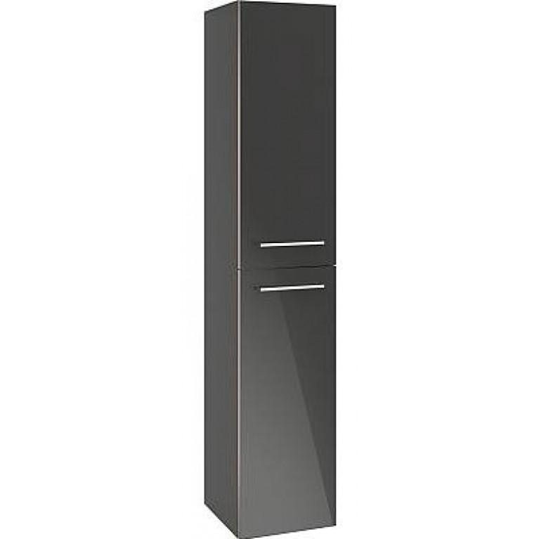 AVENTO шкаф-пенал 35*176*37см, подвесной, цвет Crystal Black, фото 1