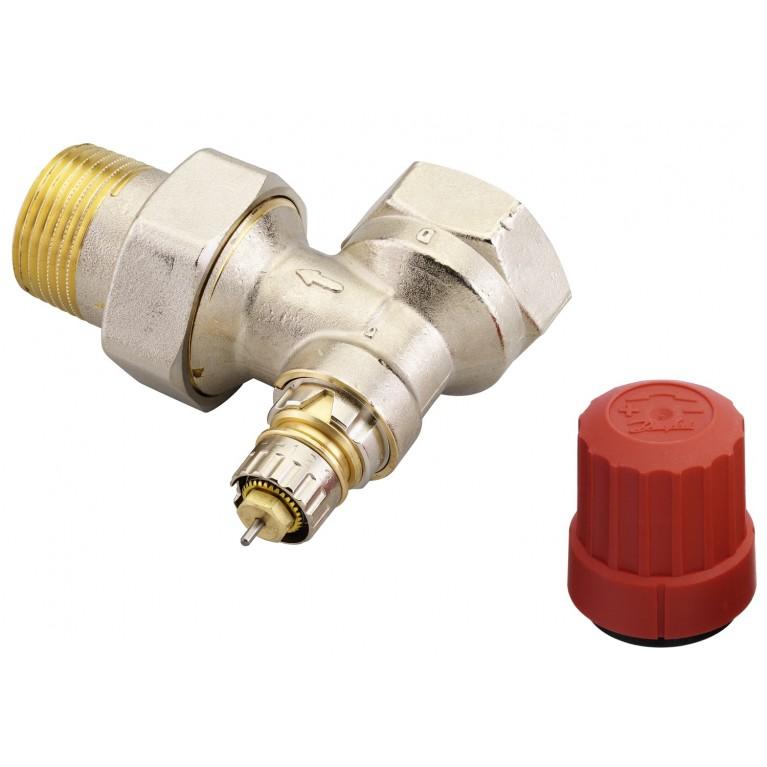 Купить Клапан RA-N для двухтрубных системы отопления Ду25 DIN угловой у официального дилера Danfoss в Украине
