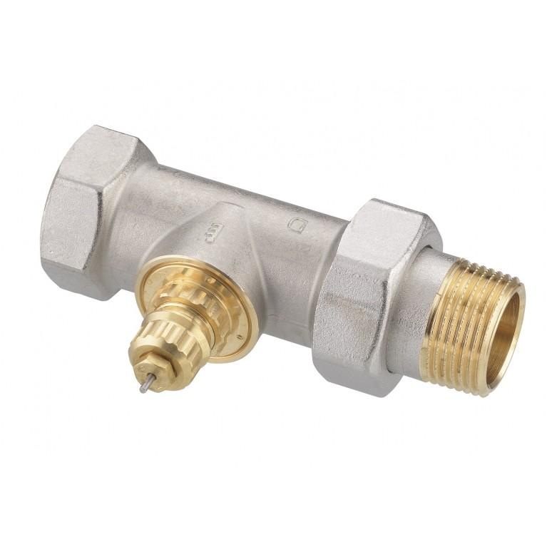 Клапан Danfoss RA-G 25 никель для однотрубной системы отопления, прямой DN25, фото 1