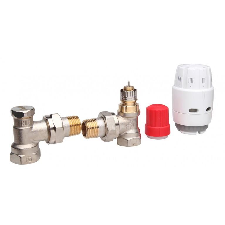 Комплект термостатический угловой Danfoss RAS-C2+RA-N+RLV-S 1/2 (013G2219) 013G2219, фото 2