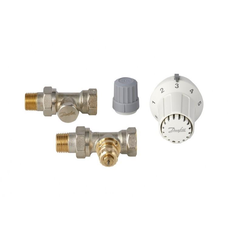 """Комплект термостатический Danfoss RAS-С + RA-FN + RLV-S 1/2"""" прямой 013G2229, фото 2"""