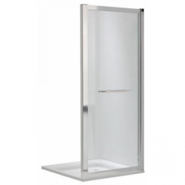 GEO 6 боковая стенка 90 см, закаленное стекло PRISMATIC, серебристый блеск, фото 1