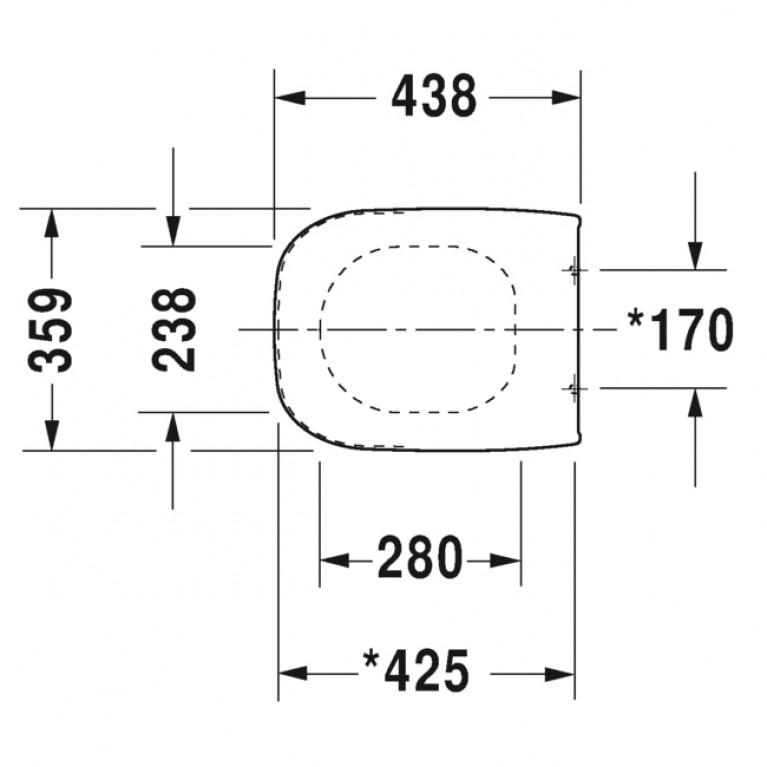 D-CODE крышка с сиденьем, slow closing 0067390000