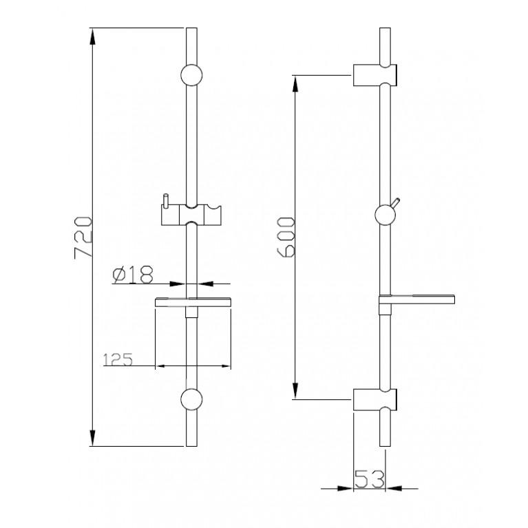 Набор смесителей(3 в 1) kit21082, душ kit21082, фото 3