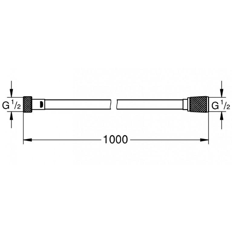 Silverflex Шланг 1000 mm, хром 26334000, фото 2