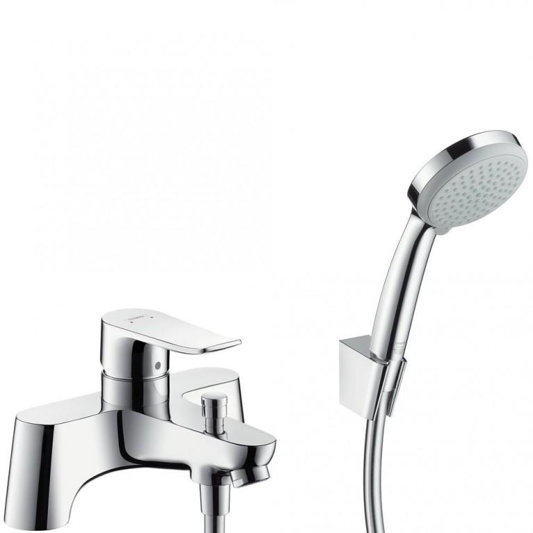 Metris Смеситель для ванны на два отверстия, с лейкой